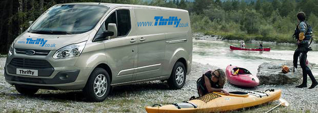 Van rental from Thrifty